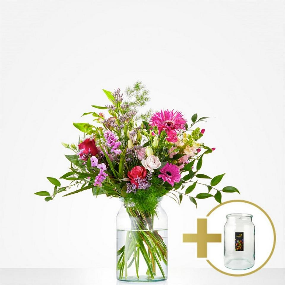 Image 1 of 1 of Combi Bouquet: Just for you; including vintage vase € 10,-