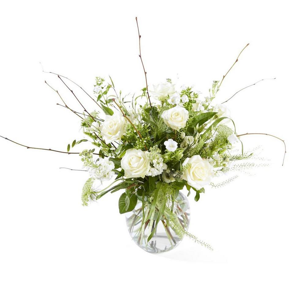Image 1 of 1 of Funeral bouquet: Farewell; funeral bouquet inclusive vaas.