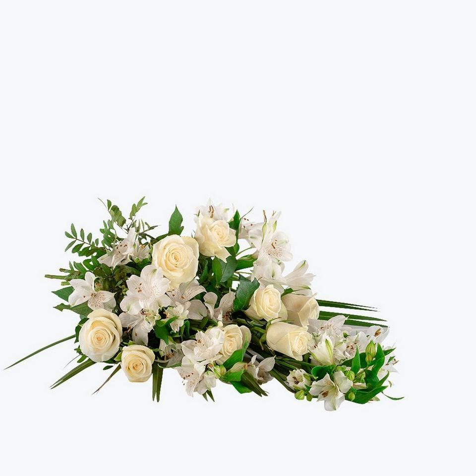 Image 1 of 1 of Funeral Bouquet with texted ribbon