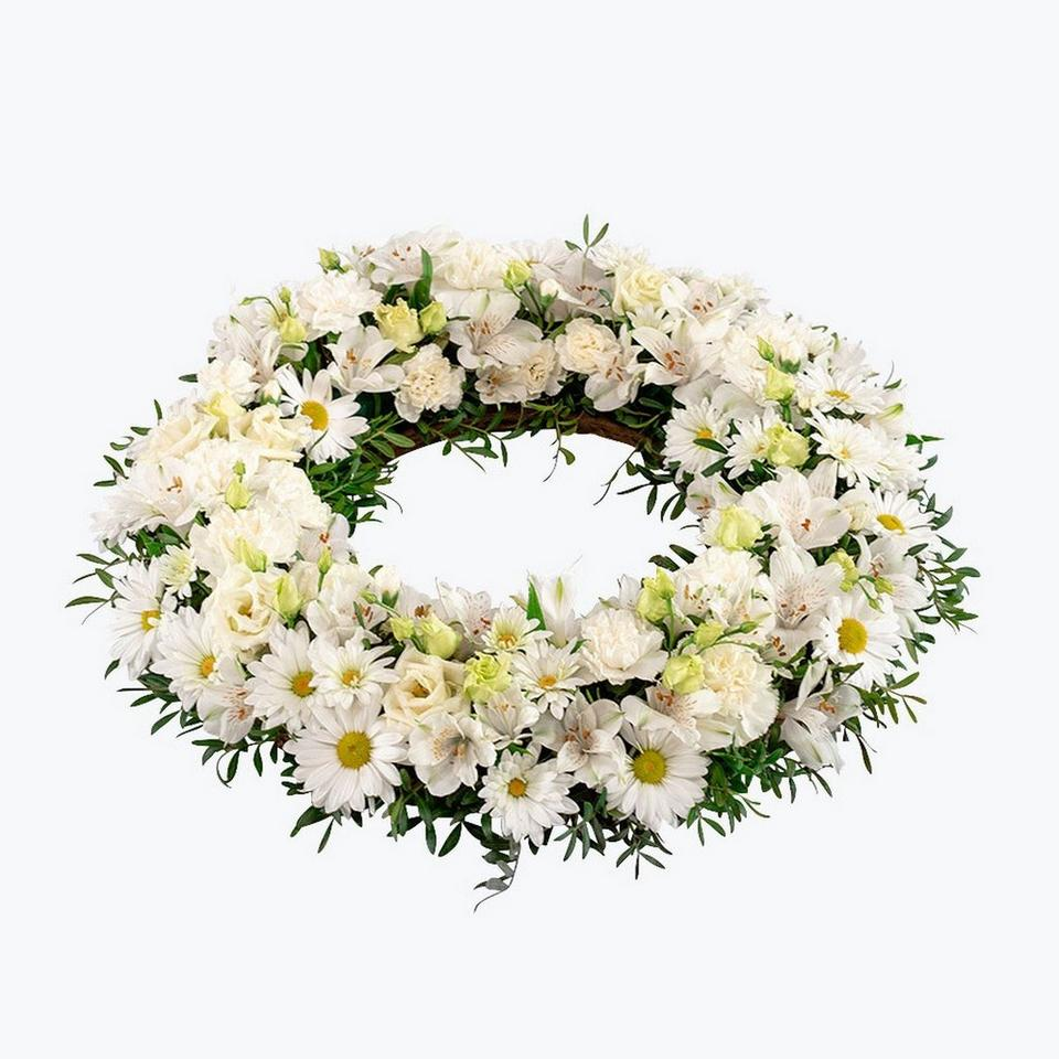 Image 1 of 1 of Funeral Wreath with ribbon