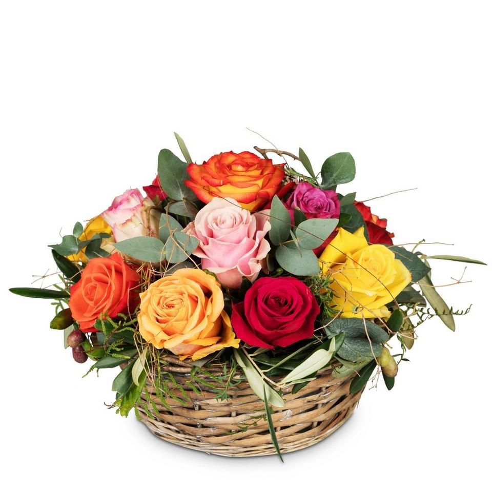 Image 1 of 1 of A Basket Full of Roses