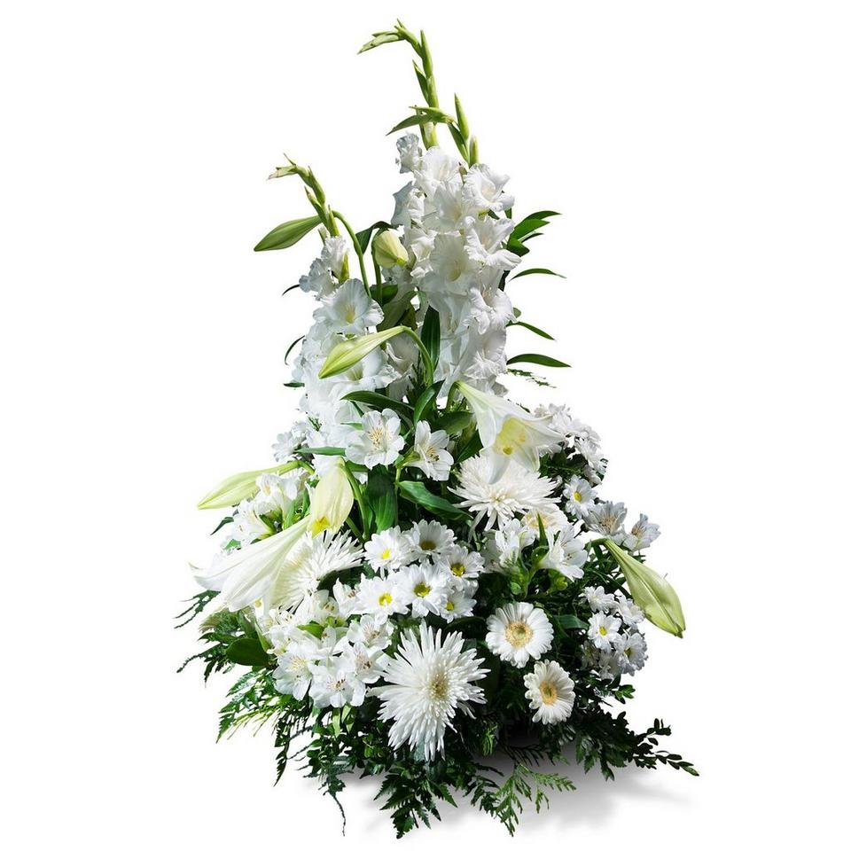 Image 1 of 1 of Vertical Bouquet in white shades