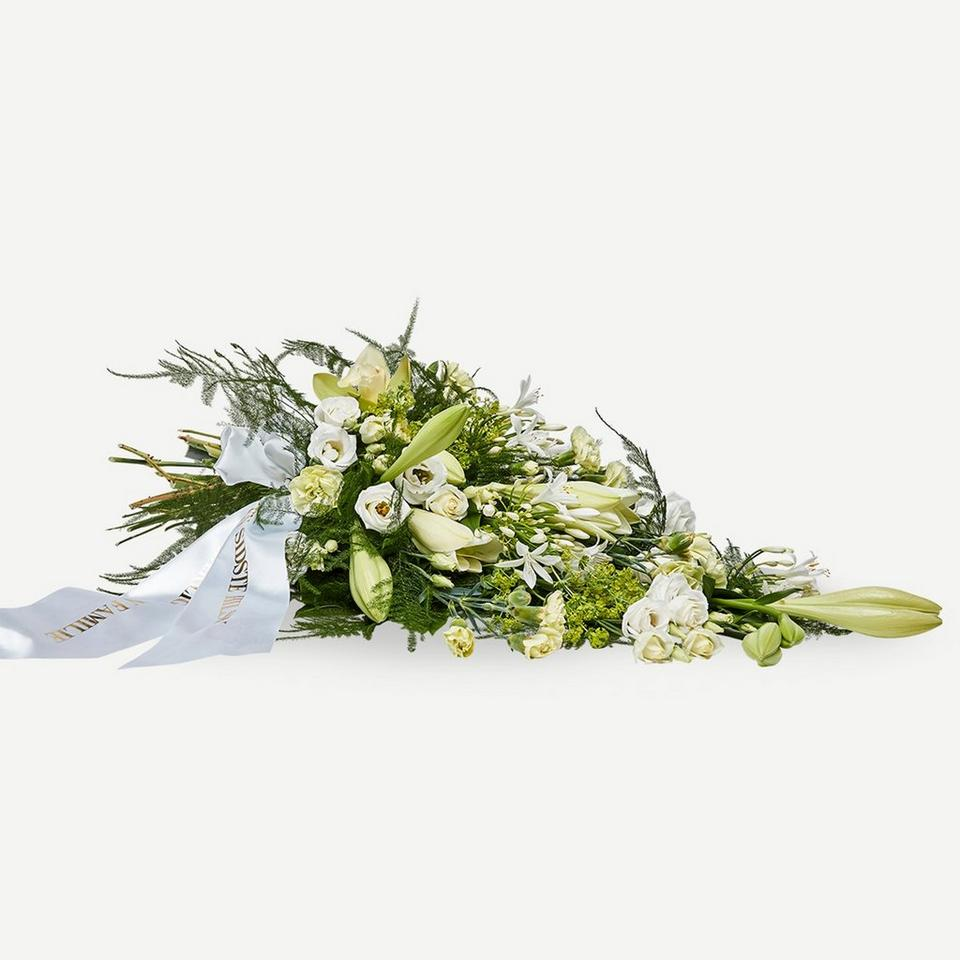 Image 1 of 1 of Classic funeral spray with ribbon