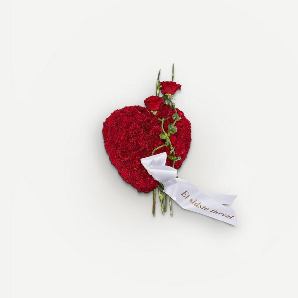 Image 1 of 1 of Heart with ribbon