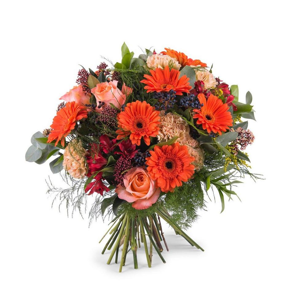 Image 1 of 1 of Mixed bouquet in orange shades