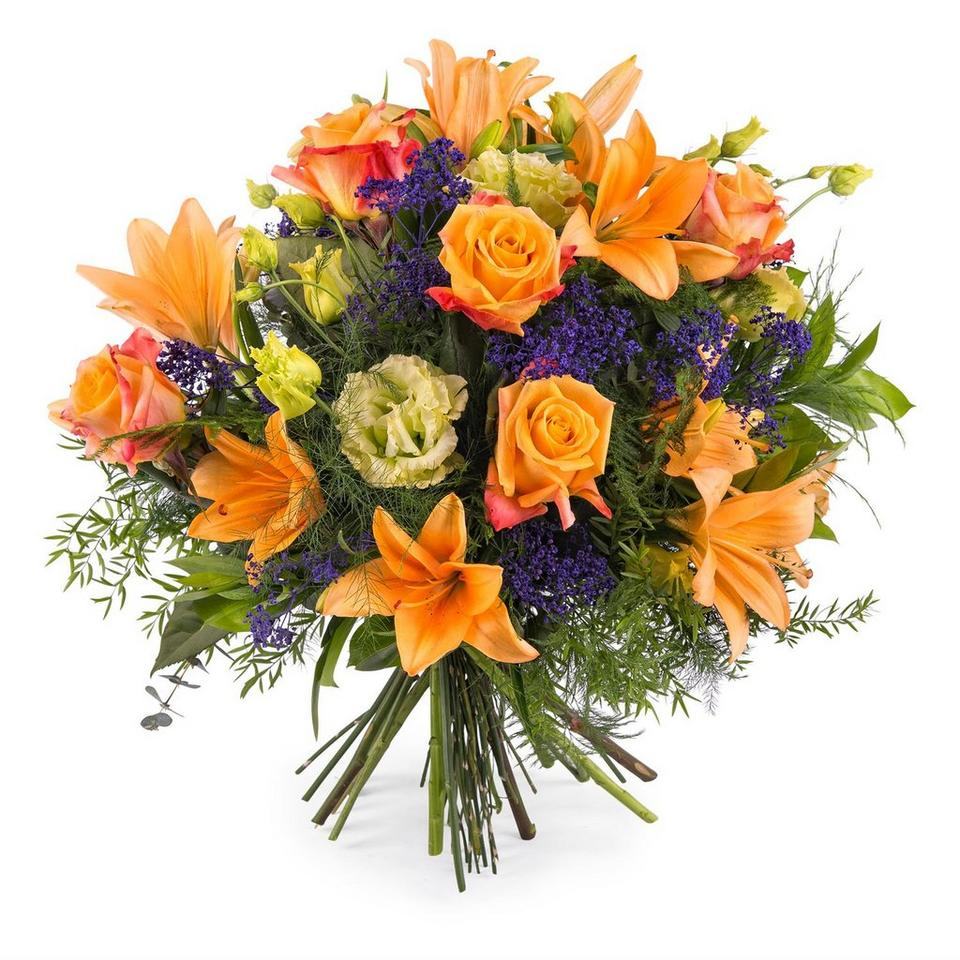Image 1 of 1 of Special bouquet with orange roses