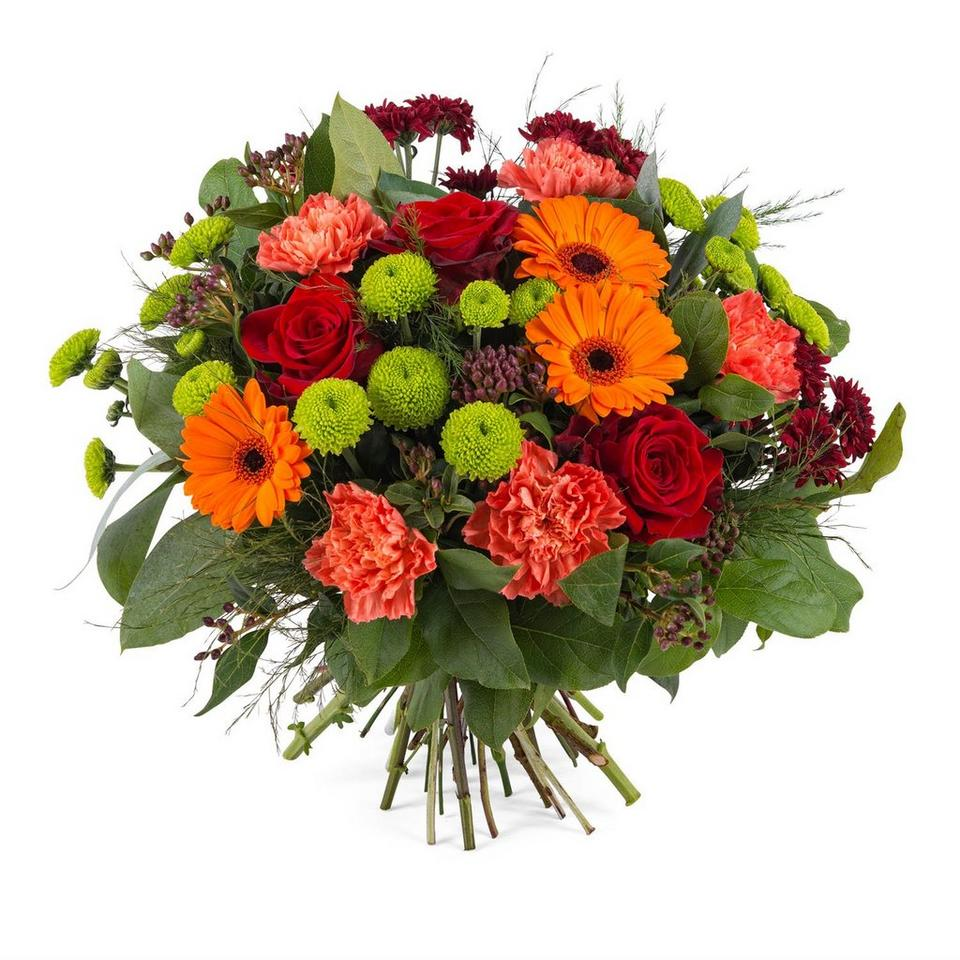 Image 1 of 1 of Bouquet in warm shades and greens