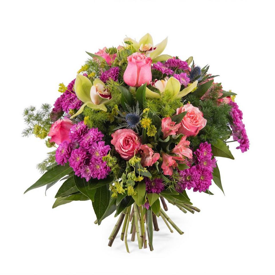 Image 1 of 1 of Bouquet with Roses and Orchids