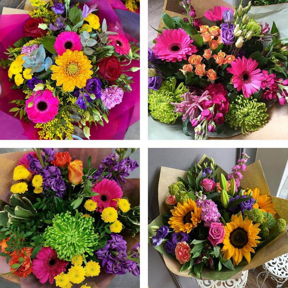 Image 2 of 5 of Summer hand-tied bouquet made with the finest flowers
