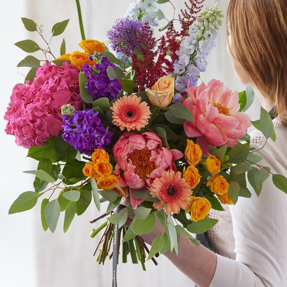 Image 1 of 5 of Summer hand-tied bouquet made with the finest flowers includes rose