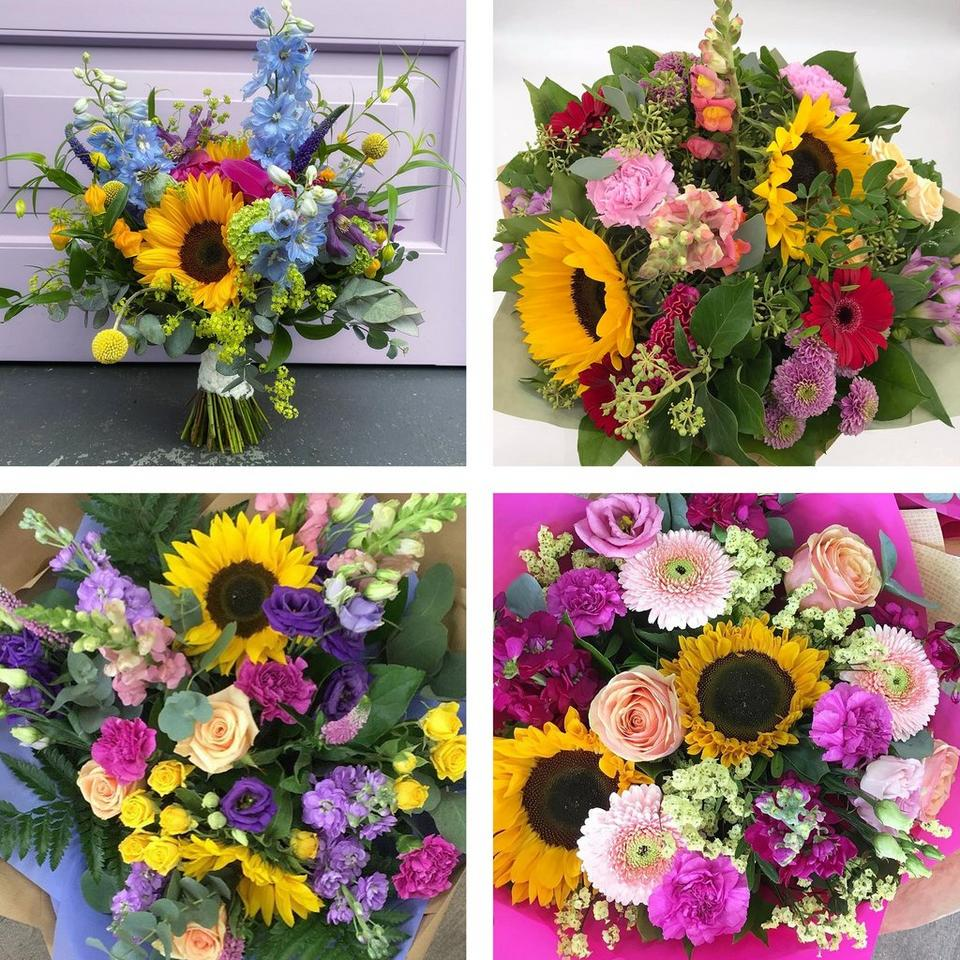 Image 2 of 5 of Summer hand-tied bouquet made with the finest flowers includes rose