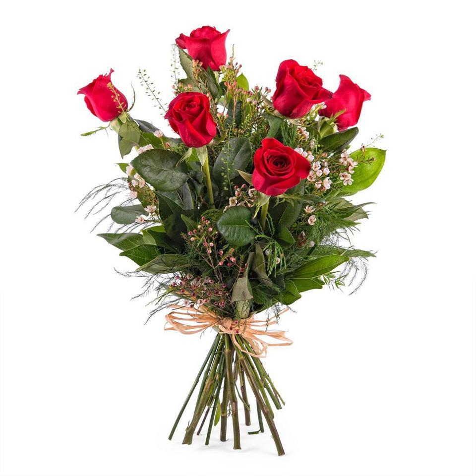 Image 1 of 1 of 6 Long-stemmed Red Roses
