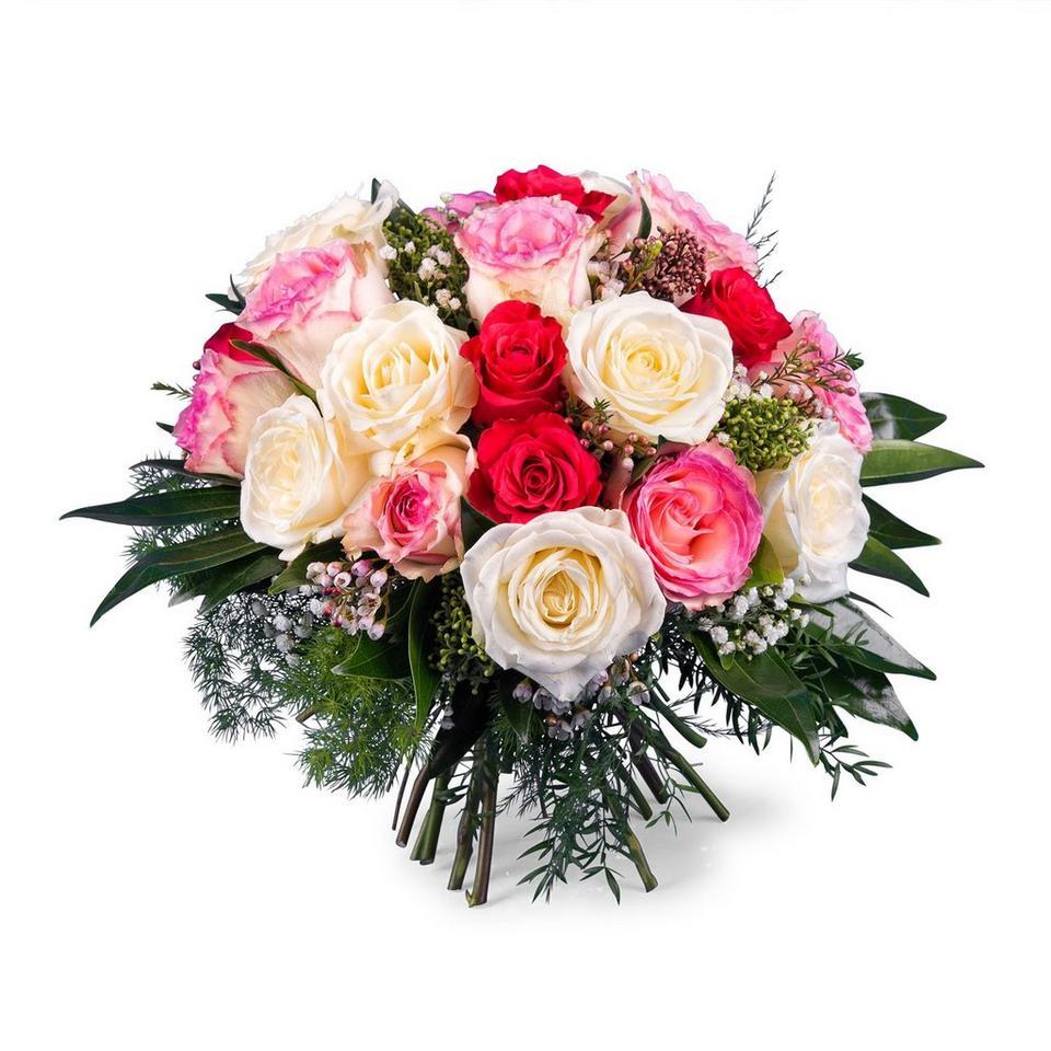 Image 1 of 1 of 20 Short-stemmed Multicoloured Roses