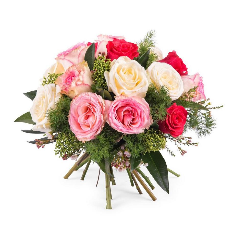 Image 1 of 1 of 15 Short-stemmed Multicoloured Roses