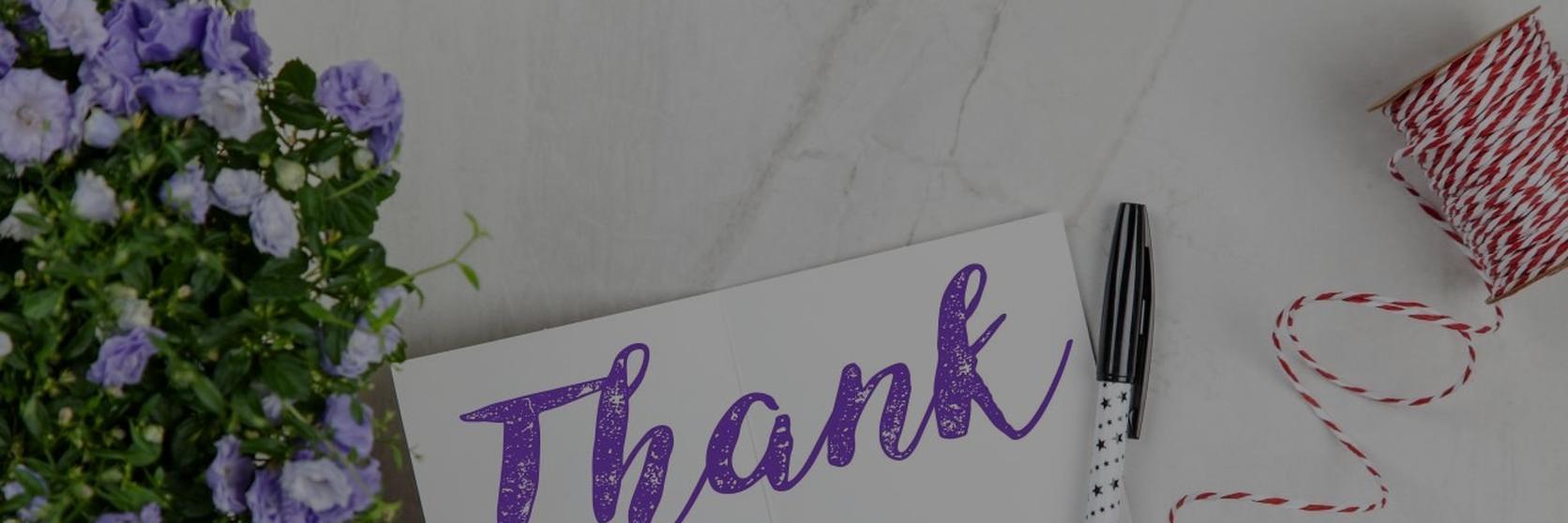Thank-You-Signage